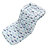 Baby Seat Liner for Stroller,Super Light Baby Car Seat Pad,Breathable Cotton Cushion Double Sides Use 31''x 13'' (Blue Whale)