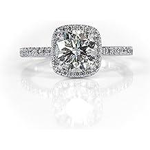 Mark Broumand 1.80ct Round Brilliant Cut Diamond Engagement Ring