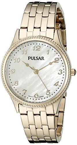 (Pulsar Women's PH8142 Dress Analog Display Japanese Quartz Gold Watch)