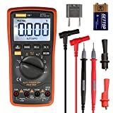 Digital Multimeter,Thsinde Auto Ranging Multimeters TRMS 6000 with Battery Alligator Clips Test Leads AC/DC Voltage