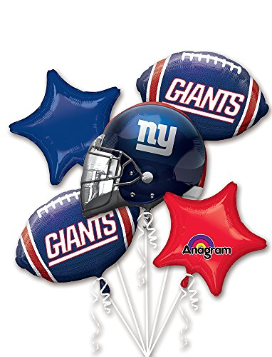 Ny Giants Birthday (Anagram Bouquet Giants Foil Balloons,)