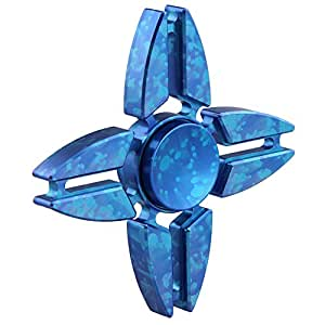 Wangyue New Big Crab Claws Quadruple-Spinner Hands Spinner Premium Made Luxury Quality Stress Reducer Blue