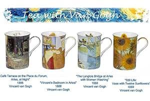 4tazas con diseño de Vincent van Gogh