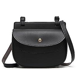 Ftsucq Womens Mini Shoulder Handbags Casual Totes Messenger Bag Hobos Satchels Black