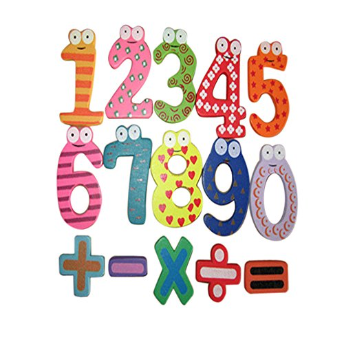 (Gbell Magnetic Wooden Numbers Learning Math Set, Digital Baby Educational Toy for Kids Toddler Baby Infant (Multicolor))