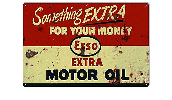 EEMOMS1C Esso Extra Motor Oil Metal Sign New 30 cm H X 20 cm W