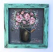 Rustic Pink Peonies,Farmhouse Art,RebecaFlottArts