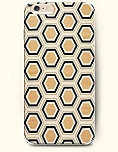 Black And Khaki Hexagon Pattern - Honeycomb Pattern - Phone Cover for Apple iPhone 6 Plus ( 5.5 inches ) - SevenArc ...