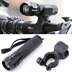 1 Pcs Superior Popular Style 240 Lumen LED Bike Lights Front Headlight Multi Modes Bicycle Torch Color Black with Mount