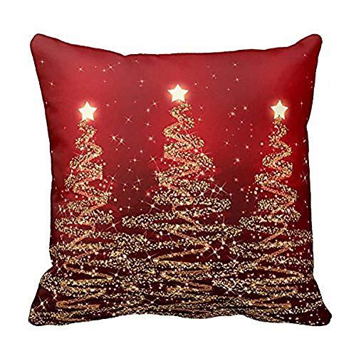 - Sunhusing Merry Christmas Super Soft Pillowcase Cotton Linen Sofa Cushion Cover