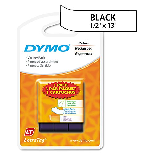Dymo LetraTag Value Pack, 1/2