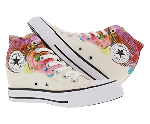 a666c5221a59 Converse Chuck Taylor All Star Lux Digital Floral Print Mid  White Pink Black Womens