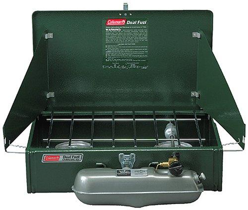 Coleman 2 Burner Dual Fuel Compact Liquid Fuel Stove, Outdoor Stuffs