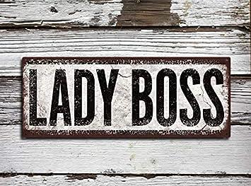 Lady Boss - Cartel de Metal rústico con impresión a Todo ...