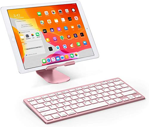 Bluetooth Keyboard and Mouse Combo,Wireless Keyboard and Mouse for iPad pro/iPad Air/iPad/iPad Mini, iPhone (iPadOS 13 / iOS 13 and Above), (Rose Gold)