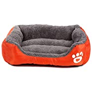 Zodae Dog Bed, Super Soft Pet Sofa Cats Bed, Non Slip Bottom Pet Lounger,Self Warming and Breathable Pet Bed Premium Bedding