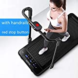 Gharpbik Portable Folding Treadmill Exercise Equipment Treadmill Standing Walking Treadmill Electric Machine Treadmill Workstation Underdesk Cardio Running Machine Home Gym (handrails)