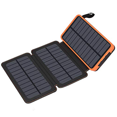 Solar Charger 24000mAh ADDTOP Waterproof Power Bank Portable Battery Pack with 2 USB Compatible Smartphones, Tablets, Outdoor Camping Travelling by ADDTOP