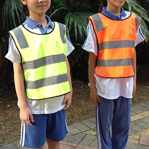 Kids Di Sanitation Ad Gilet Scuola Sicurezza Bambini Zhouba Per Worker Giacca Visibilità Yellow Alta Della dqwZS4f