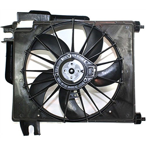 A/C Fan Shroud Assembly for Dodge Full Size P/U 02-08 W/Wire Harness 5 Blades Gas (04-07 3500)