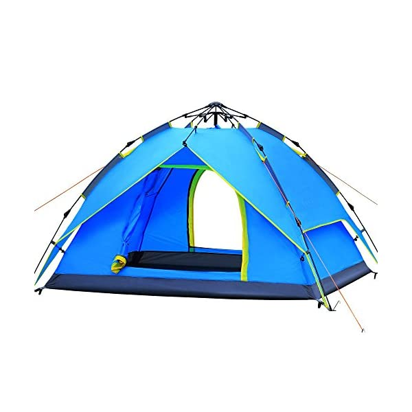 AYAMAYA-Camping-Tents-4-Styles–3-4-Person-Hydraulic-Automatic-Quick-Setup-Tent-3-4-People-Easy-Pop-Up-Dome-Tent-4-6-Man-Instant-Set-Up-Cabin-Tent-3-4-Double-Layer-Waterproof-Tents-for-Family