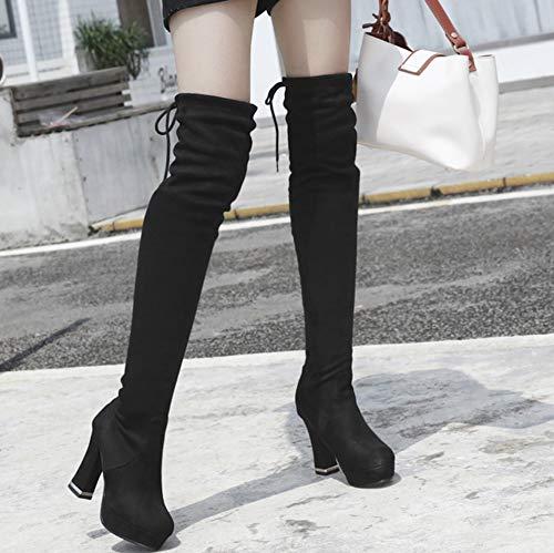 Mode C Haute Femme Souple Tige Elastique Aisun x517qw8UW