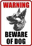 """Outdoor/Indoor 8.27"""" high x 5.51"""" wide Home Business BEWARE OF DOG Window Door Wall Security Warning Alert Sticker Decals **Back Self Adhesive Vinyl**"""