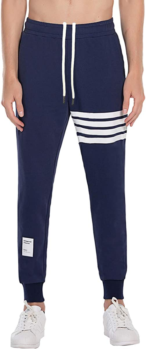 Extreme Pop Hombre Pantalones de chándal Joggers de Gimnasia con Estampado de Rayas UK Brand