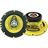 "Car Three Way Speaker System - Pro 6.5 Inch 280 Watt 4 Ohm Mid Tweeter Component Audio Sound Speakers For Car Stereo w/ 40 Oz Magnet, 2.25"" Mount Depth Fits Standard OEM - Pyle PLG6.3 (Pair)"