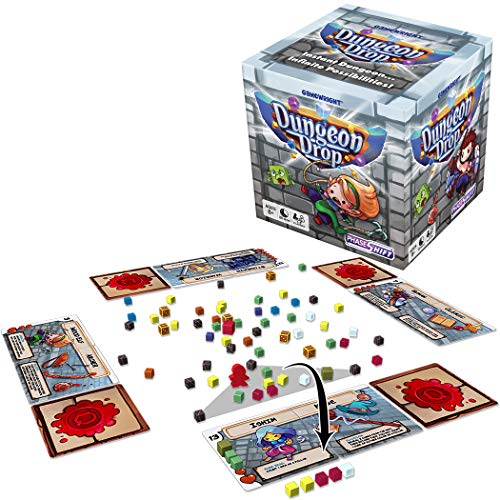 Gamewright Dungeon Drop – The Infinite Dungeon Creation Table top Game