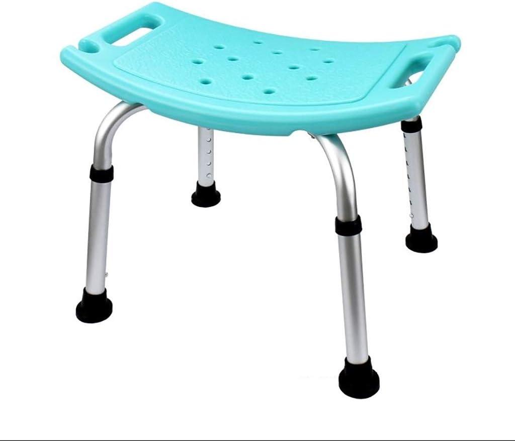 Silla de ducha de aleación de aluminio con patas ajustables en altura, asiento de banqueta de transferencia de taburete de baño de ducha médica antideslizante con ranura para tarjeta de baño, asiento