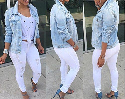 Grande Veste Taille Jean Longues Jacket Femme Blouson Comme Manches Image Outwear Manteau wtadq67I
