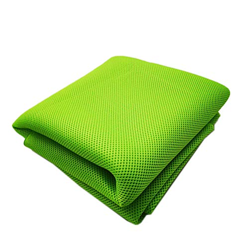 3D Air Spacer Sandwich Mesh Fabrics PET Hygrolon Heavy Seat Cover Soft Thick Breathable Sport Wear 155CM Wide 230G/M2 3MM (Green) (Air Mesh Fabric)