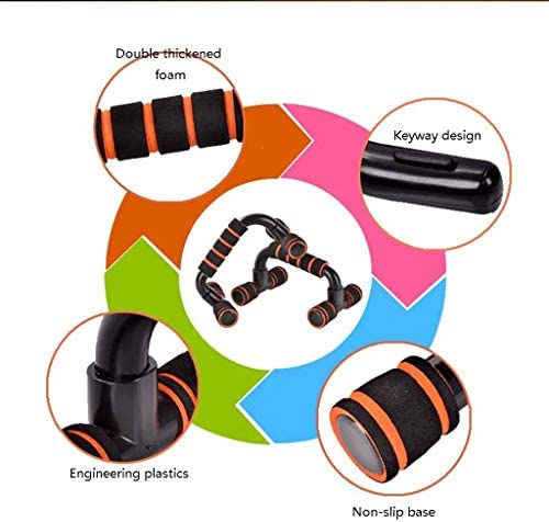筋力トレーニング フロアプッシュアップ腕立て伏せホームフィットネス機器胸筋トレーニング機器腕立て伏せ機器のハンドルをプッシュアップアップバーパーフェクト腕立て伏せを押してください プッシュアップバー (Color : Black, Size : 22*13.5*12cm)