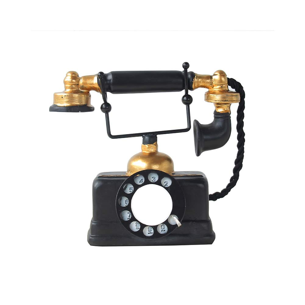 ZXHHL European Retro Resin Telephone Ornaments Antique Old Telephone Home Living Room Desktop Decoration Crafts