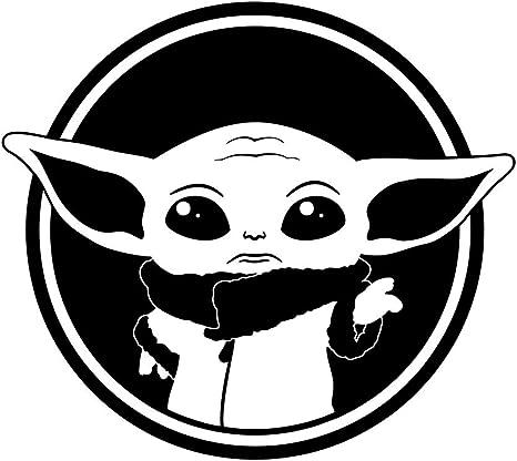 Hungmieh Baby Yoda On Board Aufkleber Autoaufkleber Lkw Motorrad 5 9x5 3 In Baby Yoda On Board Black 1 Auto