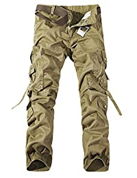 Men's Tactical Cargo Pants Casual Combat Multiple Pockets Military Army Pants