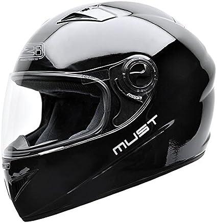 54 NZI Must B Casco de Moto Negro XS