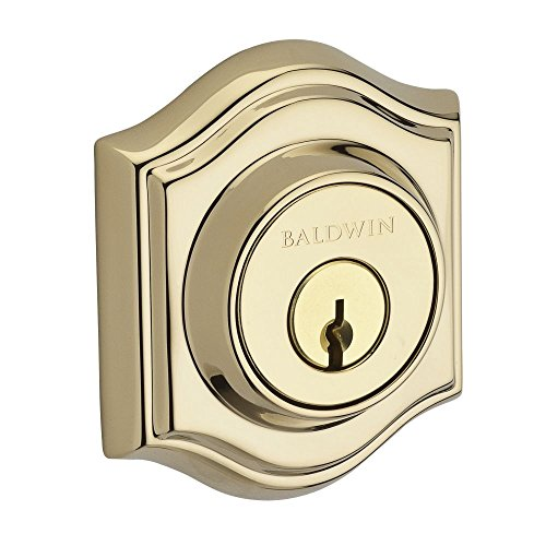Baldwin SCTAD003 Reserve Single Cylinder Traditional Arch Deadbolt in Lifetime Brass Finish