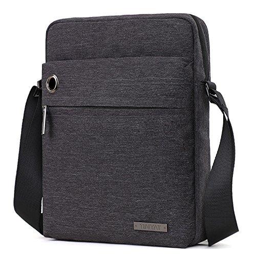 TINYAT Fashion Men's Shoulder Bag Handbags Briefcase for the Office Messenger Bag T512 (Deep Grey)