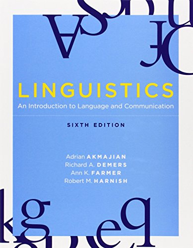 Linguistics: An Introduction to Language and Communication