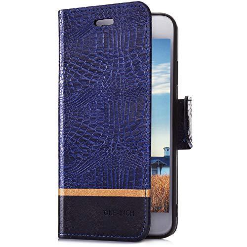 Coque Etui pour Huawei Honor 7A Coque en PU, Uposao Huawei Honor 7A Housse en Cuir Premium Flip Case Tisse Portefeuille Etui Coque à Rabat Magnétique Fermeture Housse à Clapet Fentes de Cartes avec Fonction Stand Support etui Ultra Sli