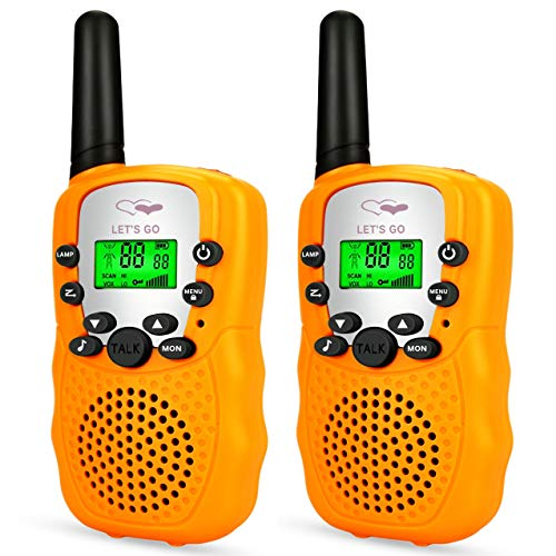 Toys for 3-12 Year Old Girls, Handheld Walkie Talkies for Kids Gifts Toys for 3-12 Year Old Boys 2019 New Gifts for Kids Boys Girls 3-12 Stocking Fillers Orange TGDJ05
