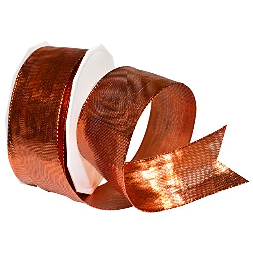 - Morex Ribbon 14240/20-623 Devon Wired Polyester/Metallic Ribbon, 1-1/2