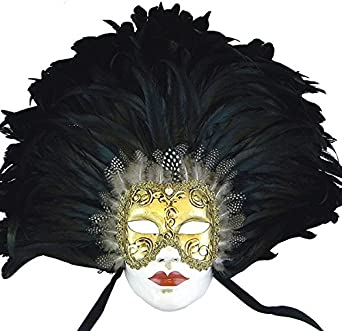 Eyes Wide Shut Volto Feathered Venetian Masquerade Mask