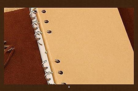Ouguan Fille Papillon Carnet Bullet Carnet Dessin Cahier de Vacances Notebook Cuir Journal de Voyage Bloc Notes Jaune Detachable Papier Kraft Blanc 200 Pages 19 x 13cm 19 x 13cm Rouge