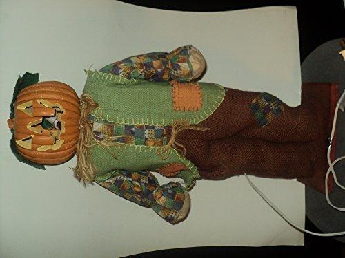 pumpkin head electric scarecrow ()