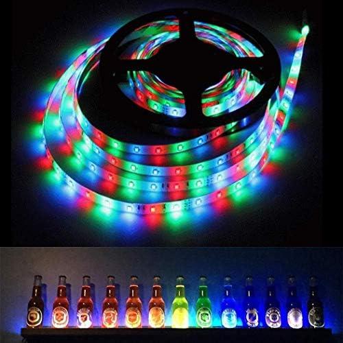 32.8FT elifine LED Strip Lights Bedroom Kitchen TV Decor Lighting 3528 SMD RGB Color Changing 600LEDs Flexible LED Tape Light Kit with 44 Key IR Remote Controller for Room