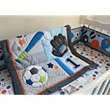 New 6 Pieces Baby Boy Sport Crib Bedding Set