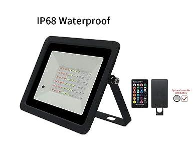Luz de inundación RGB LED, 16 colores que cambian al aire libre ...
